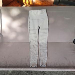Wunder under high rise chrome tech mesh leggings
